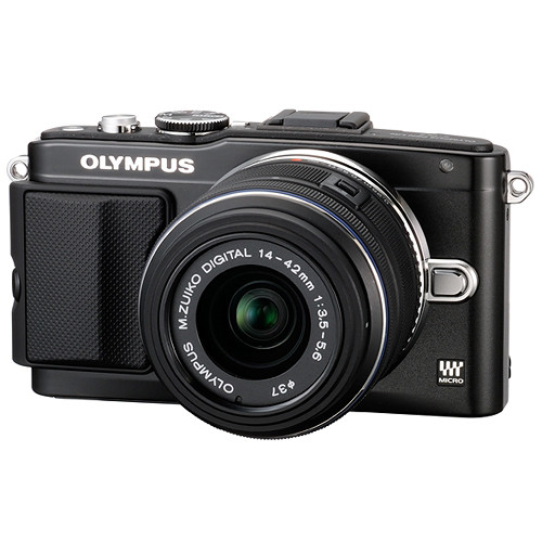 Olympus E-PL5 w/ FL-LM1 Flash and 14-42mm Lens for $274 !