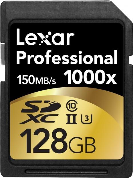Lexar professional SDXC 1000X 128G card