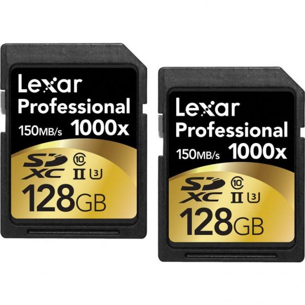 Lexar professional SDXC 1000X 128G card2