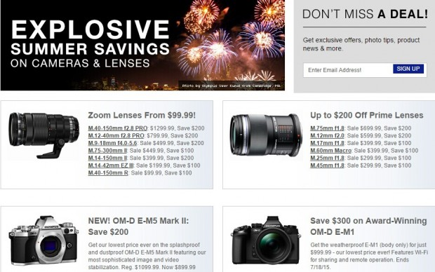 Hot Deals: Big Savings on Olympus Cameras & Lenses