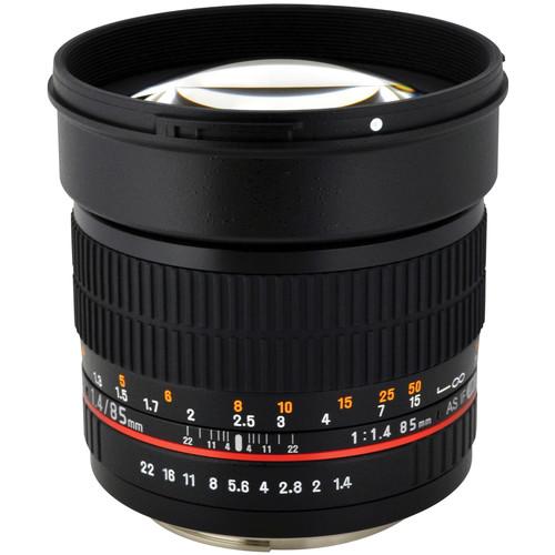 Rokinon 85mm F1.4 Full Frame Prime Lens