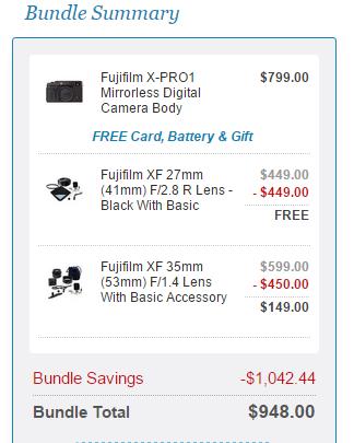 Fujifilm X-pro 1 deal