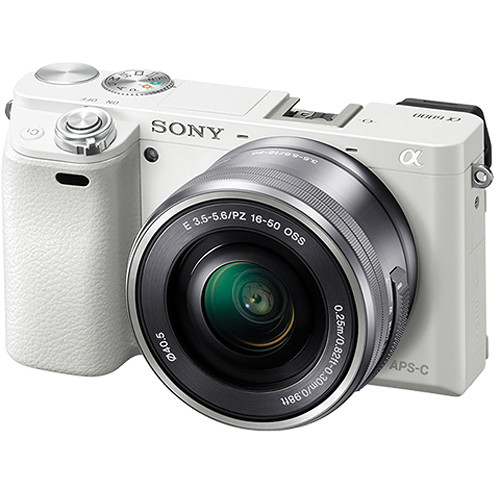 Hot Deal: Sony Alpha a6000 with 16-50mm Lens (White) for $549