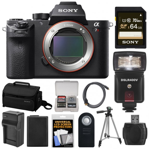 <span style='color:#dd3333;'>Hot Deal: Sony A7R II with 64GB Card + Battery + Charger + Case + Flash/Video Light + Tripod + Kit for $3,199</span>