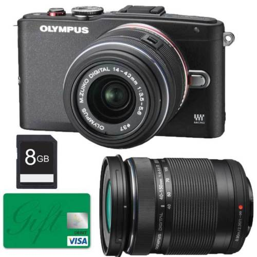 Hot Deal: Olympus E-PL6 +14-42mm II + 40-150mm Lens + 8GB SD Card+80 Gift Card for only $399