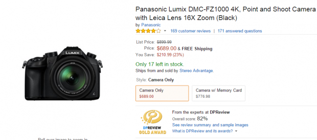 Panasonic FZ1000 deals