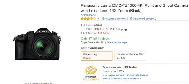 Panasonic FZ1000 deals