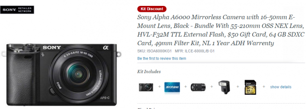 Sony a6000 kit discount