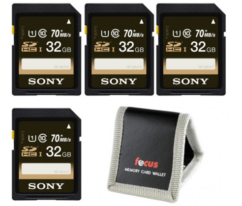 Hot Deal: Sony 32GB Class 10 UHS-1 SDHC Memory Card (4-Pack) for $39