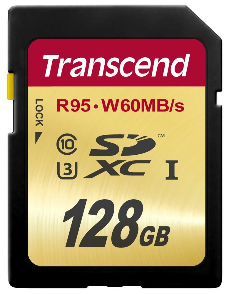 Transcend 128 GB High Speed 10 UHS-3 Flash Memory Card