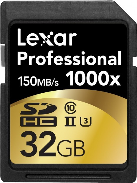 Hot Deal:Lexar Professional 1000x 32GB SDHC UHS-II/U3 Card for $21
