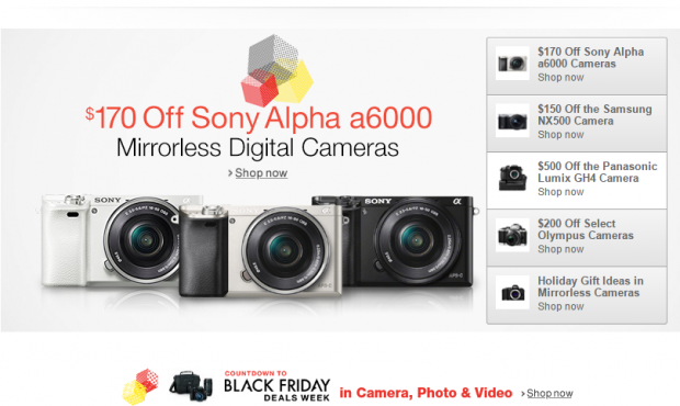 Mirrorless cameras deals at amazon