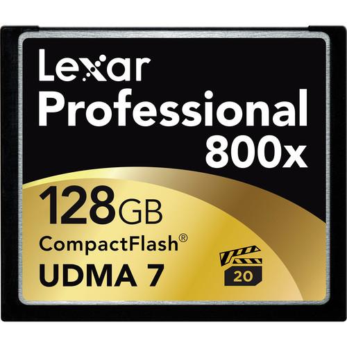 Lexar 128GB CF card 800x