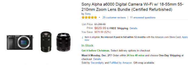 Sony A6000 deals