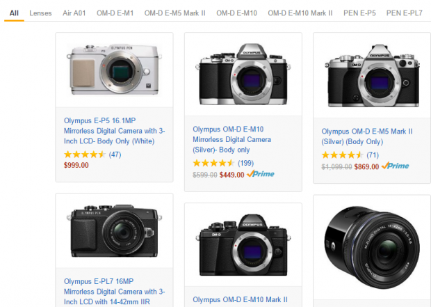 Olympus deals at Amazon