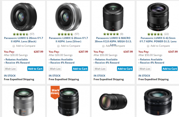Panasonic lens deals