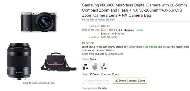 samsung NX3000 deal