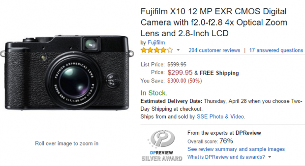 Hot Deal: Fujifilm X10 for $299