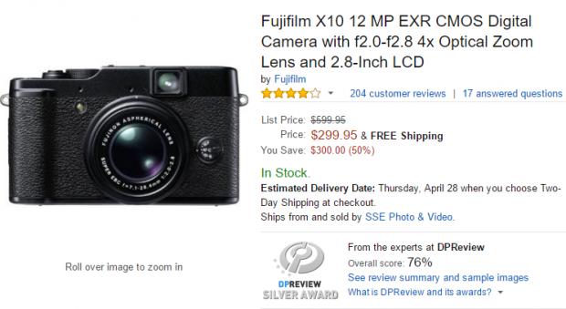 Fujifilm X10 deal