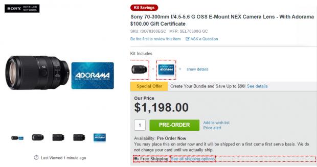Sony FE 70-300mm deal