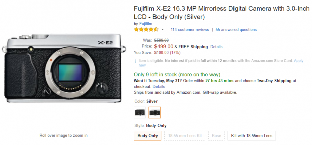 <span style='color:#dd3333;'>Hot Deal: Fujifilm X-E2 for $499 at Amazon</span>