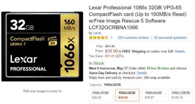Lexar Proffessional 32GB CF card