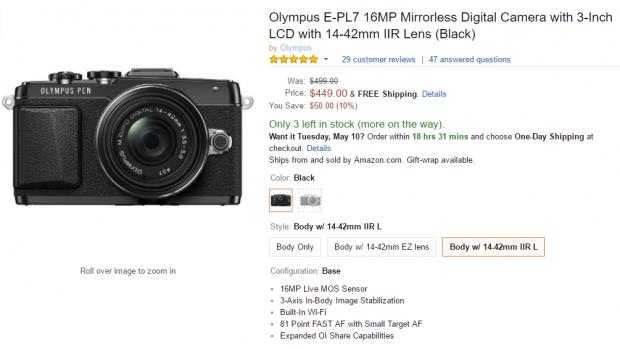 Olympus E-PL7 deal