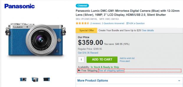 Hot Deal: Panasonic Lumix DMC-GM1 with 12-32mm Lens for $359