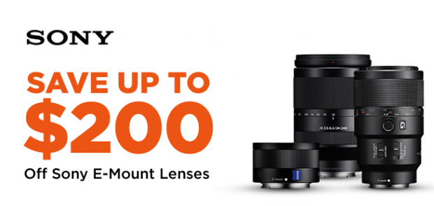 Sony E mount lenses deal