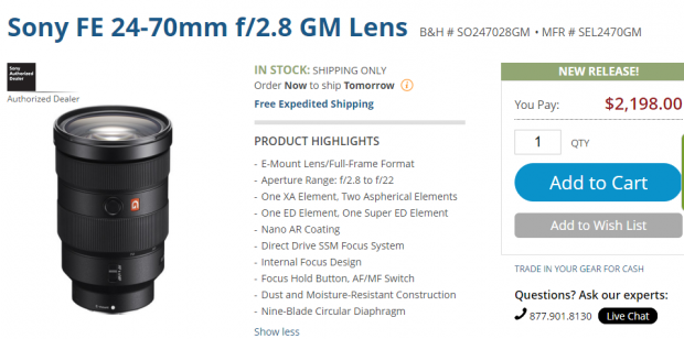 Sony-FE-24-70mm-F2.8-GM-lens-in-stock