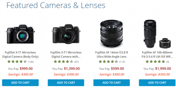 <span style='color:#dd3333;'>Hot Deals: Up to $350 Off on Fujifilm Cameras and Lenses</span>