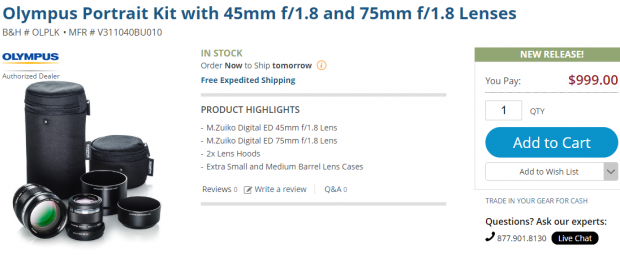 Olympus Portrait kit deal