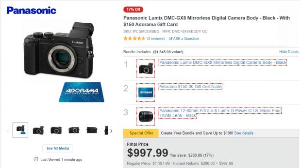 <span style='color:#dd3333;'>Hot Deal: Panasonic GX8 + Lumix G Vario 12-60mm Lens + $150 Gift Card for $997 at Adorama</span>