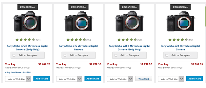 <span style='color:#dd3333;'>Hot Deals: 10% Off on Sony A7 Series Cameras at B&#038;H</span>
