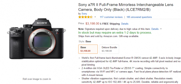 <span style='color:#dd3333;'>Hurray! Sony a7R II Back in Stock at Amazon</span>