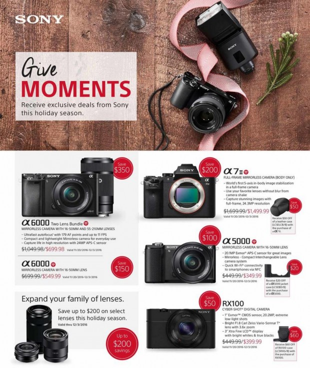 <span style='color:#dd3333;'>2017 Black Friday Sony Camera & Lens Ads Deals & Leaked</span>