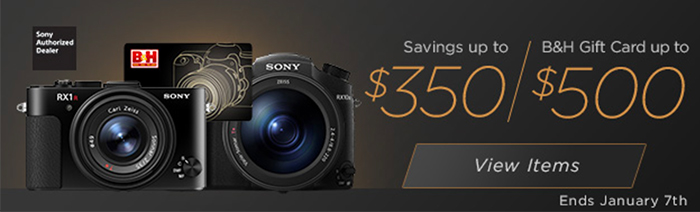 Hot Deals: Up to $500 Gift Card on Sony Cameras at B&H