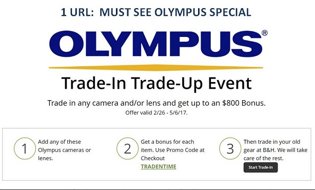 <span style='color:#dd3333;'>Hot Deals: Olympus Special Deals at B&#038;H</span>