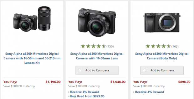 <span style='color:#dd3333;'>Hot Deals: Up to $300 Off on Sony Cameras</span>
