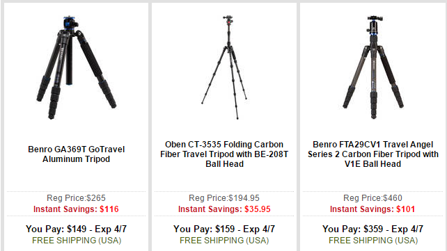 tripod deal at B&H