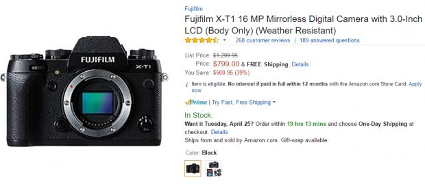 Fuji x-t1 deals