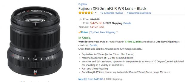 Fujifilm XF 50mm F2R deal