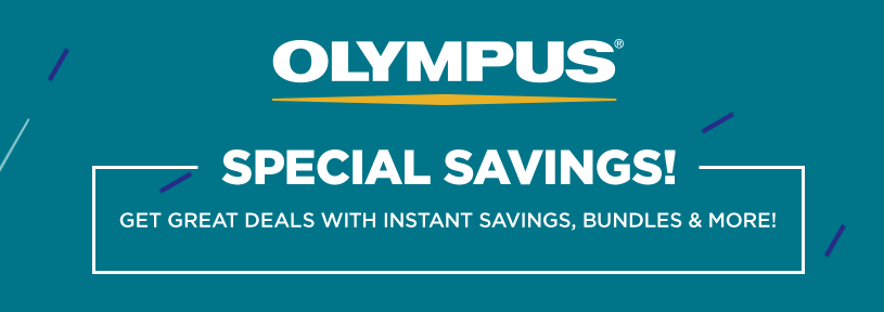 <span style='color:#dd3333;'>Hot Deals: Olympus Special Savings!</span>