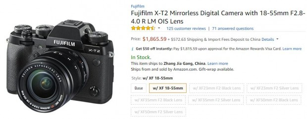 Fujifilm X-T2 with 18-55mm f2.8-4.0 deal