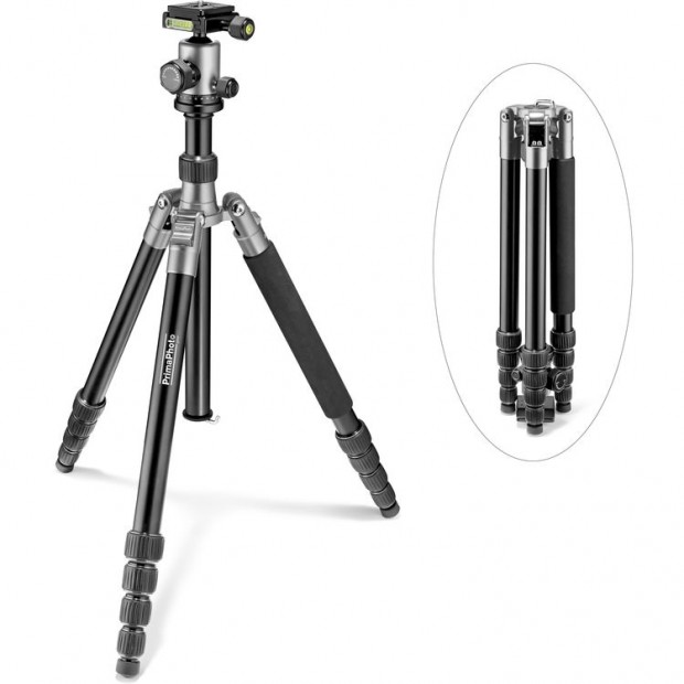 Hot Deal: Prima Photo Big Travel Tripod (Silver) for $89.88