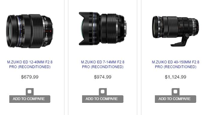 <span style='color:#dd3333;'>Big Savings on Reconditioned Olympus PRO Lenses</span>
