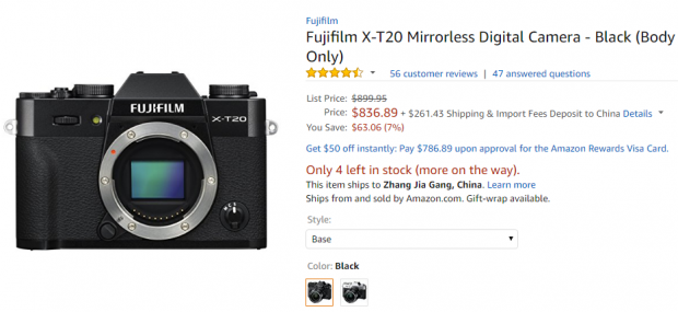 Fujifilm X-T20 deal