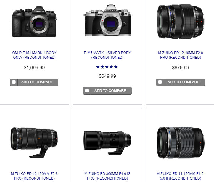 Hot Deals: Big Savings on Reconditioned Olympus Cameras and Lenses