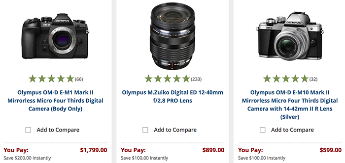 <span style='color:#dd3333;'>Hot Deals: $200 Off on Olympus E-M1 Mark II and More</span>