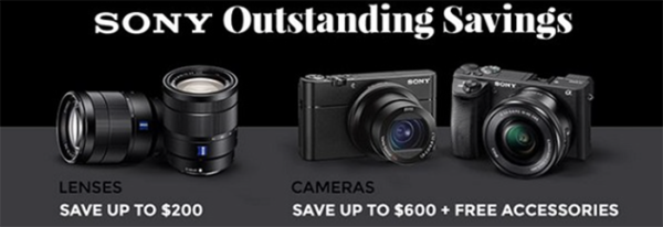 <span style='color:#dd3333;'>2018 Sony Camera & Lenses Holiday Deals now Available!</span>